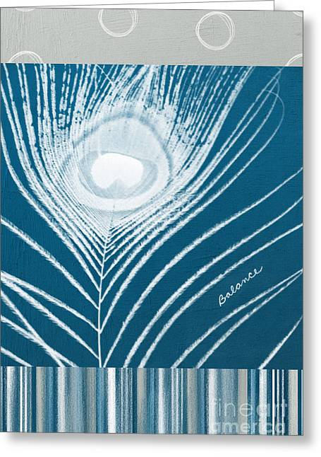 Blue-gray Greeting Cards - Balance Greeting Card by Linda Woods