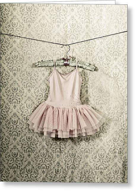 Coat Hanger Greeting Cards - Ballet Dress Greeting Card by Joana Kruse