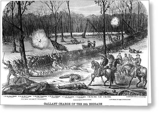 Brigade Greeting Cards - Battle Of Shiloh, 1862 Greeting Card by Granger