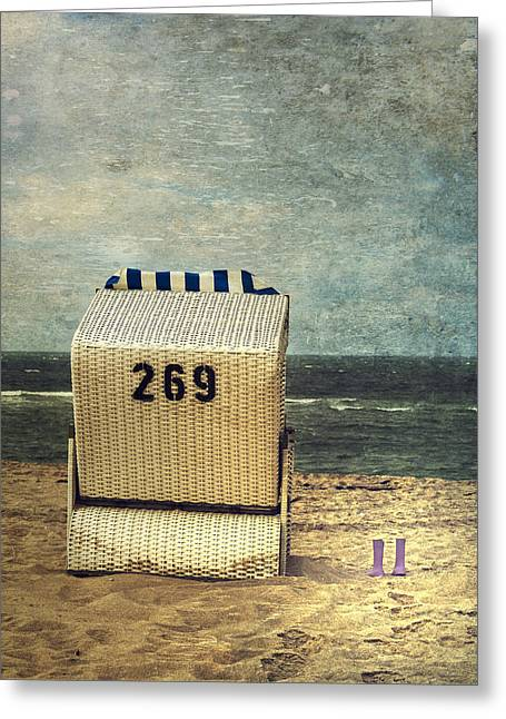 Rubber Boot Greeting Cards - Beach Chair Greeting Card by Joana Kruse