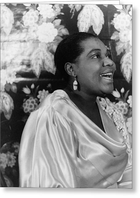 Blue Blouse Greeting Cards - Bessie Smith (1894-1937) Greeting Card by Granger