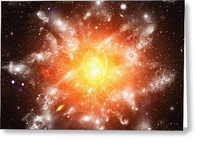 Expanding Light Greeting Cards - Big Bang Greeting Card by Mehau Kulyk