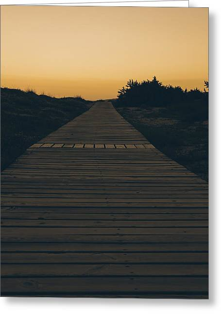 But Greeting Cards - Boardwalk Greeting Card by Joana Kruse