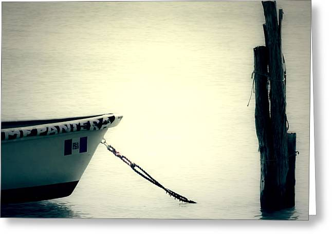 Wooden Boat Greeting Cards - Boat Greeting Card by Joana Kruse