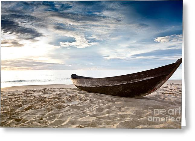 Vietnamese Greeting Cards - Boat Greeting Card by MotHaiBaPhoto Prints