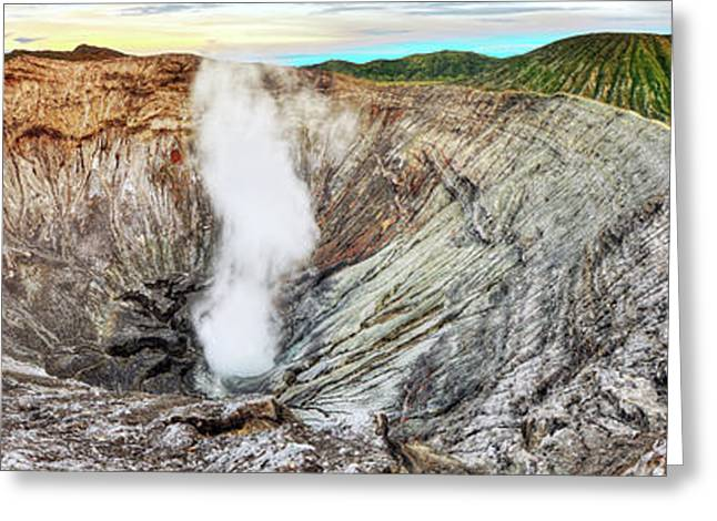 Global Greens Greeting Cards - Bromo crater Greeting Card by MotHaiBaPhoto Prints