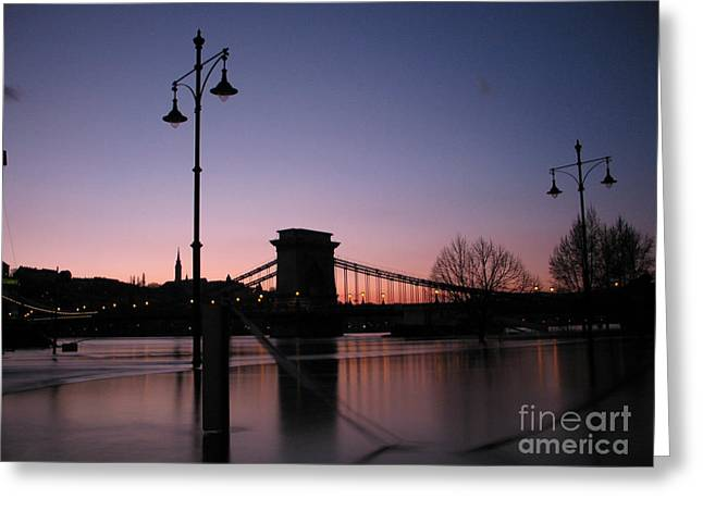 Illuminate Greeting Cards - Budapest by night Greeting Card by Odon Czintos