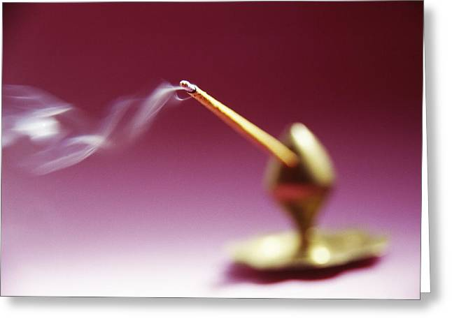 Smoke Trails Greeting Cards - Burning Incense Greeting Card by Cristina Pedrazzini