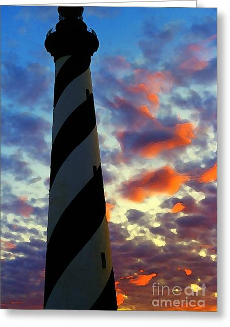 Cape Hatteras Lighthouse Greeting Cards - Cape Hatteras Lighthouse Greeting Card by Thomas R Fletcher