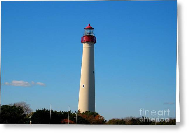Shrimp Boat Captains Greeting Cards - Cape May Lighthouse Greeting Card by Annie Zeno