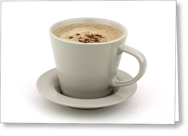 Menu Greeting Cards - Cappuccino coffee  Greeting Card by Blink Images