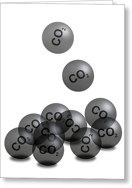 Co2 Greeting Cards - Carbon Dioxide And Climate Change Greeting Card by Victor De Schwanberg