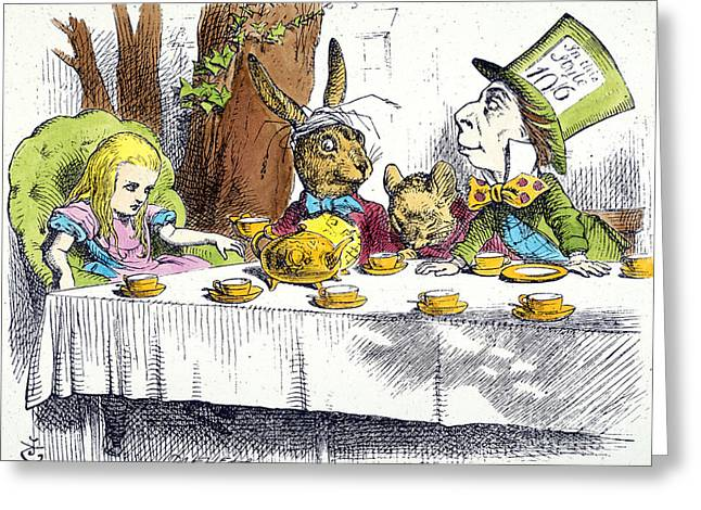 Mad Hatter Greeting Cards - Carroll: Alice, 1865 Greeting Card by Granger