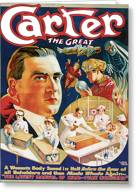 Carter The Great Greeting Card by Unknown