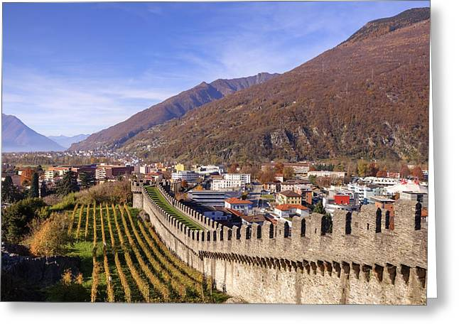 Historic Architecture Greeting Cards - Castelgrande - Bellinzona Greeting Card by Joana Kruse