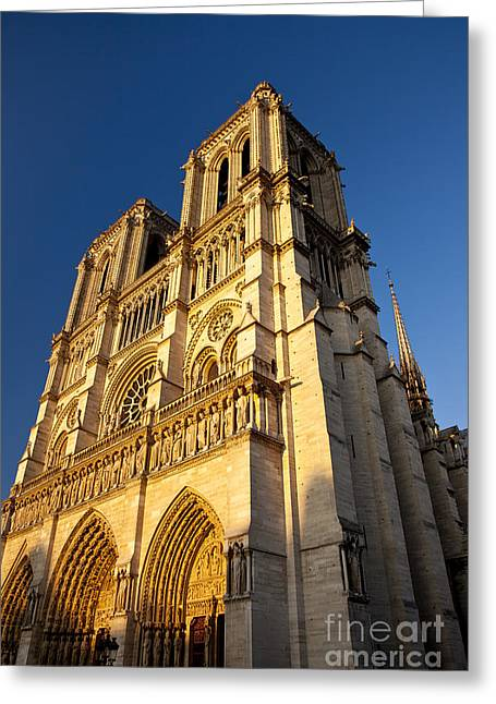 Golden Bell Greeting Cards - Cathedral Notre Dame Greeting Card by Brian Jannsen