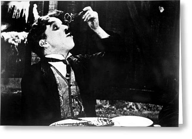 Spaghetti Greeting Cards - Chaplin: Gold Rush. 1925 Greeting Card by Granger