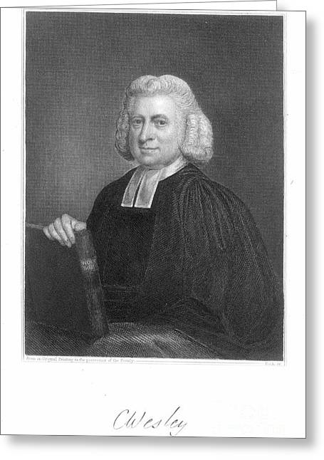 18th Century Greeting Cards - Charles Wesley (1707-1788) Greeting Card by Granger