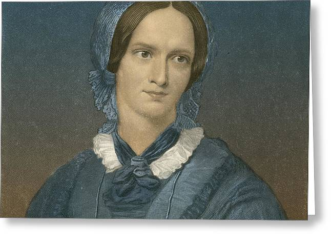 Charlotte Bronte, English Author Greeting Card by Photo Researchers
