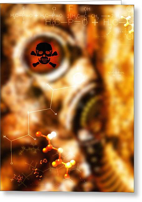Chemical Warfare Greeting Card by Mehau Kulyk