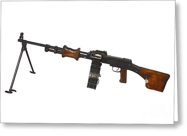 Chinese Type 56 Light Machine Gun Greeting Card by Andrew Chittock