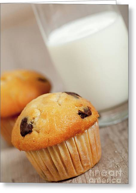 American Food Greeting Cards - Chocolate muffins Greeting Card by Sabino Parente
