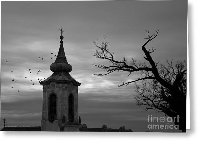 Czechia Greeting Cards - Church Greeting Card by Odon Czintos