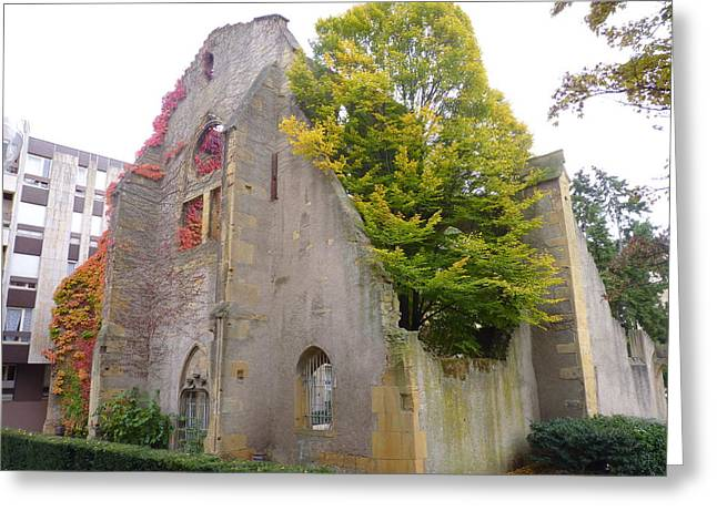 Cityspace Greeting Cards - Church of St Livier  Greeting Card by Cedric Sureau