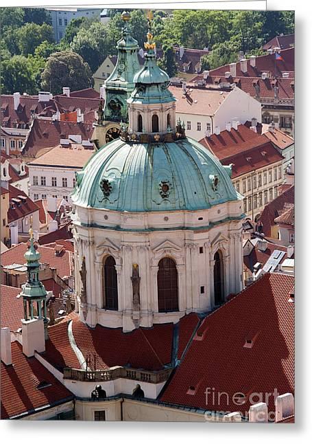 Cityspace Greeting Cards - Church of St Nikolas Greeting Card by Michal Boubin