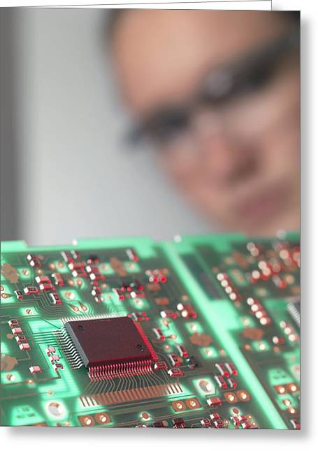 Electronics Industry Greeting Cards - Circuit Board Greeting Card by Tek Image