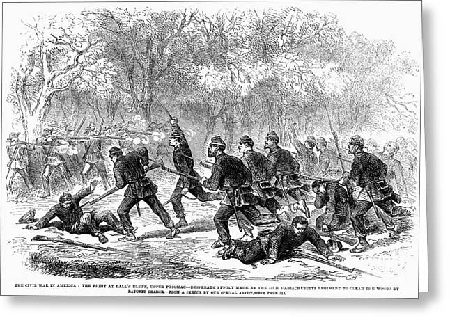 Bayonet Greeting Cards - Civil War: Balls Bluff Greeting Card by Granger