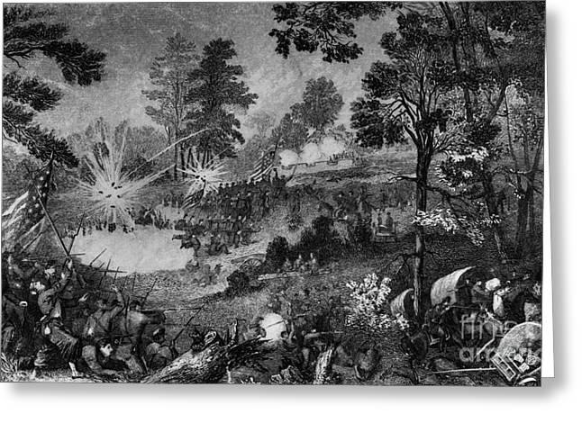 Confederate Flag Greeting Cards - Civil War: Bull Run, 1861 Greeting Card by Granger