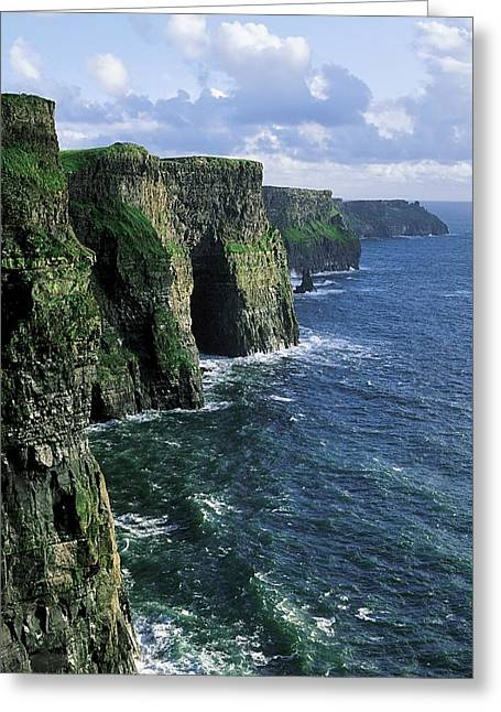 Clare Greeting Cards - Cliffs Of Moher, Co Clare, Ireland Greeting Card by The Irish Image Collection