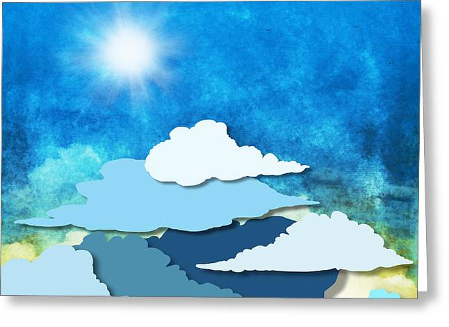 Cloud And Sky Greeting Card by Setsiri Silapasuwanchai