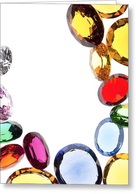 Refraction Greeting Cards - Colorful Gems Greeting Card by Setsiri Silapasuwanchai