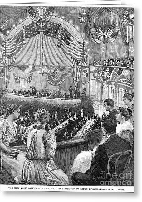 Banquet Greeting Cards - Columbus Anniversary, 1892 Greeting Card by Granger
