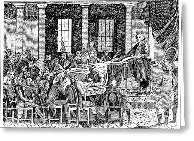 Delegate Greeting Cards - Constitutional Convention Greeting Card by Granger
