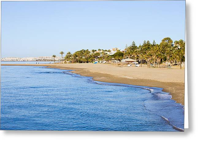 Lounger Greeting Cards - Costa del Sol in Spain Greeting Card by Artur Bogacki