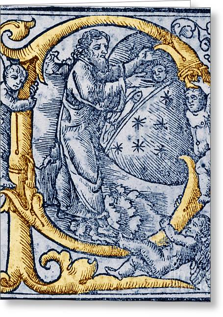 Religious Art Photographs Greeting Cards - Creation, Giunta Pontificale, 1520 Greeting Card by Science Source