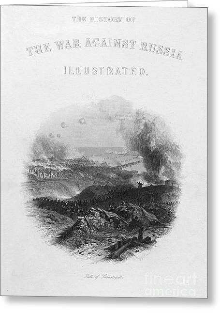 Against The War Greeting Cards - Crimean War: Sevastopol Greeting Card by Granger
