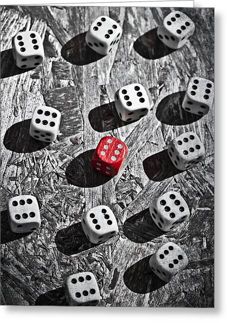 Dice Greeting Cards - Dice Greeting Card by Joana Kruse