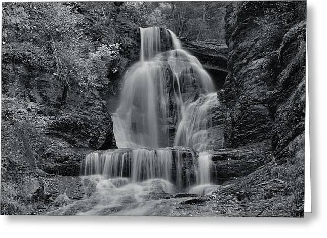 Dingmans Falls Greeting Cards - Dingmans Falls Greeting Card by Stephen  Vecchiotti