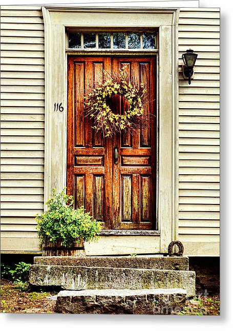 Deerfield Greeting Cards - Door Greeting Card by HD Connelly