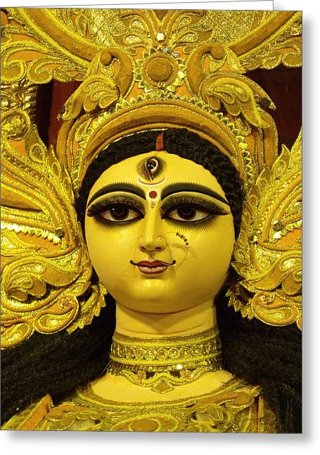 Durga Puja Greeting Cards - Durga Goddess 2012 Greeting Card by Rajan Advani