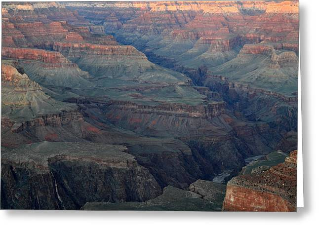 World Wonder Greeting Cards - Dusk at Grand Canyon Greeting Card by Pierre Leclerc Photography