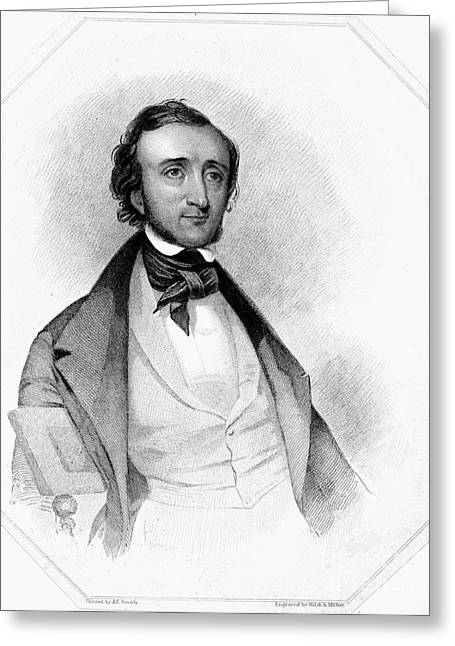 Sideburns Greeting Cards - Edgar Allan Poe (1809-1849) Greeting Card by Granger