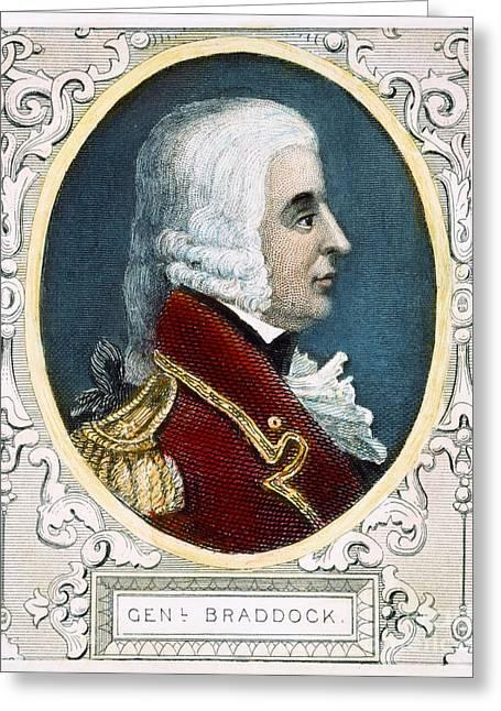 18th Century Greeting Cards - Edward Braddock Greeting Card by Granger