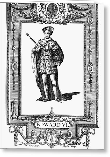 Scepter Greeting Cards - Edward Vi (1537-1553) Greeting Card by Granger
