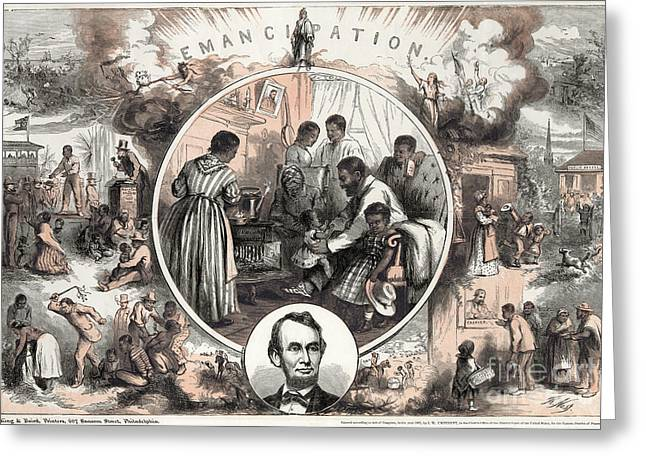 Nast Greeting Cards - Emancipation Proclamation Greeting Card by Granger