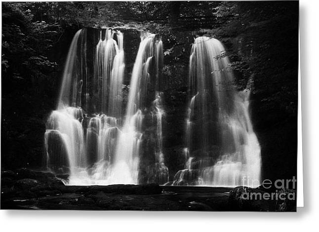 Flooding Greeting Cards - Ess-na-crub Waterfall On The Inver River In Glenariff Forest Park County Antrim Northern Ireland Uk Greeting Card by Joe Fox